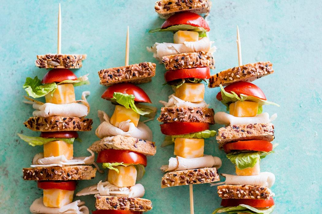 Turkey Sandwich Skewers 17