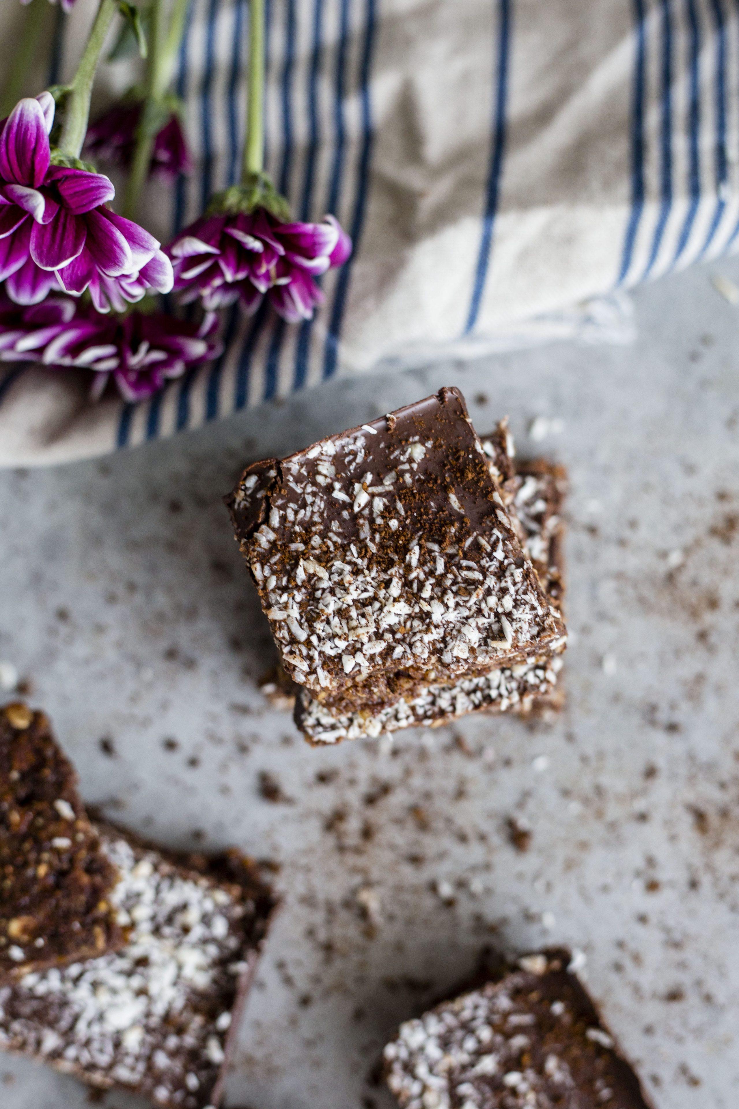 Coconut Mocha Quinoa Bars | Healthy dessert bars filled with coconut, coffee and QUINOA
