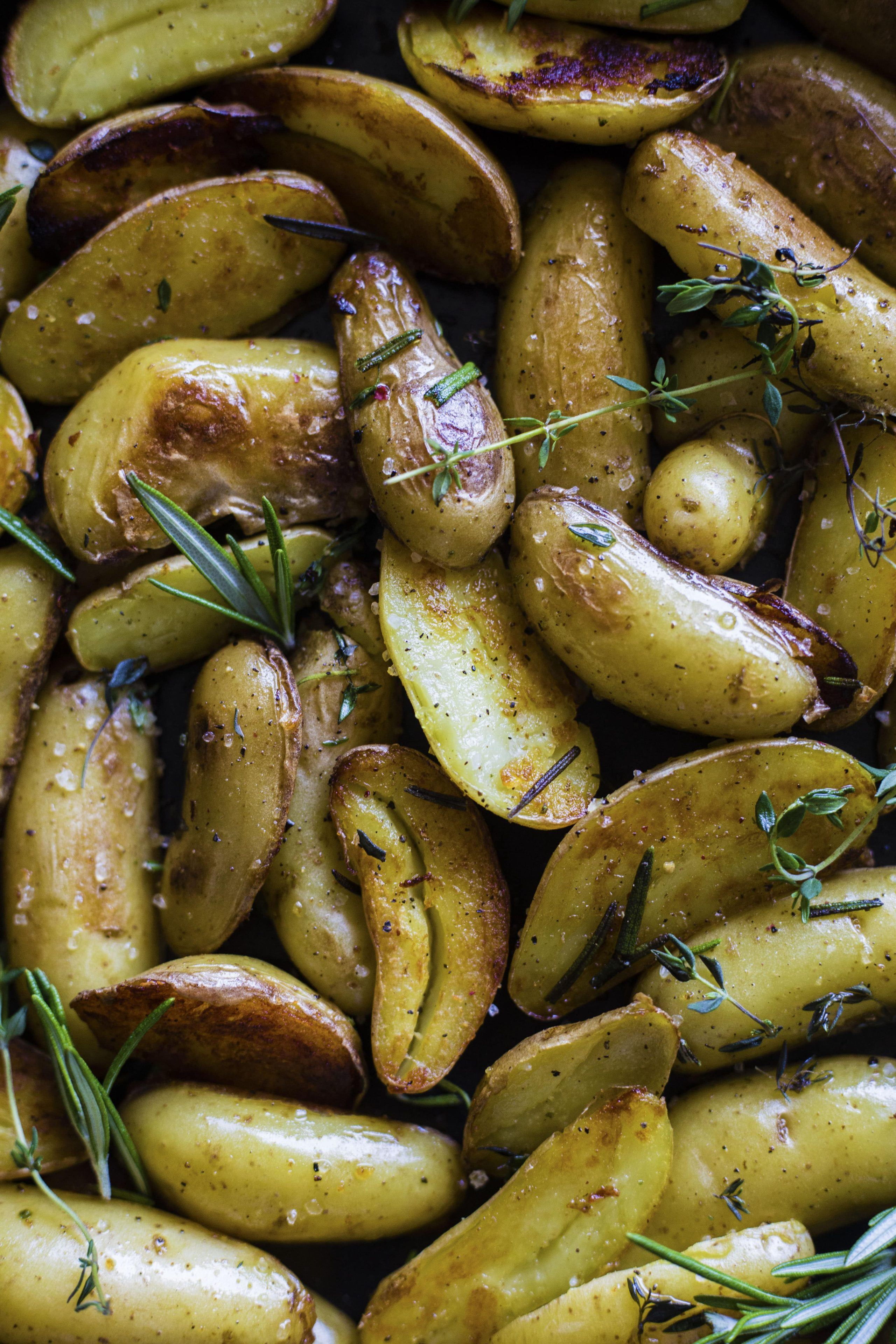 Skillet Roasted Potatoes | Perfectly crisp and no need to turn on the oven!