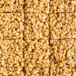 Honey Almond Butter Rice Crispy Bars   Made with HEALTHY rice cereal, these bars require just 4 ingredients, 5 minutes and are super kid-friendly!
