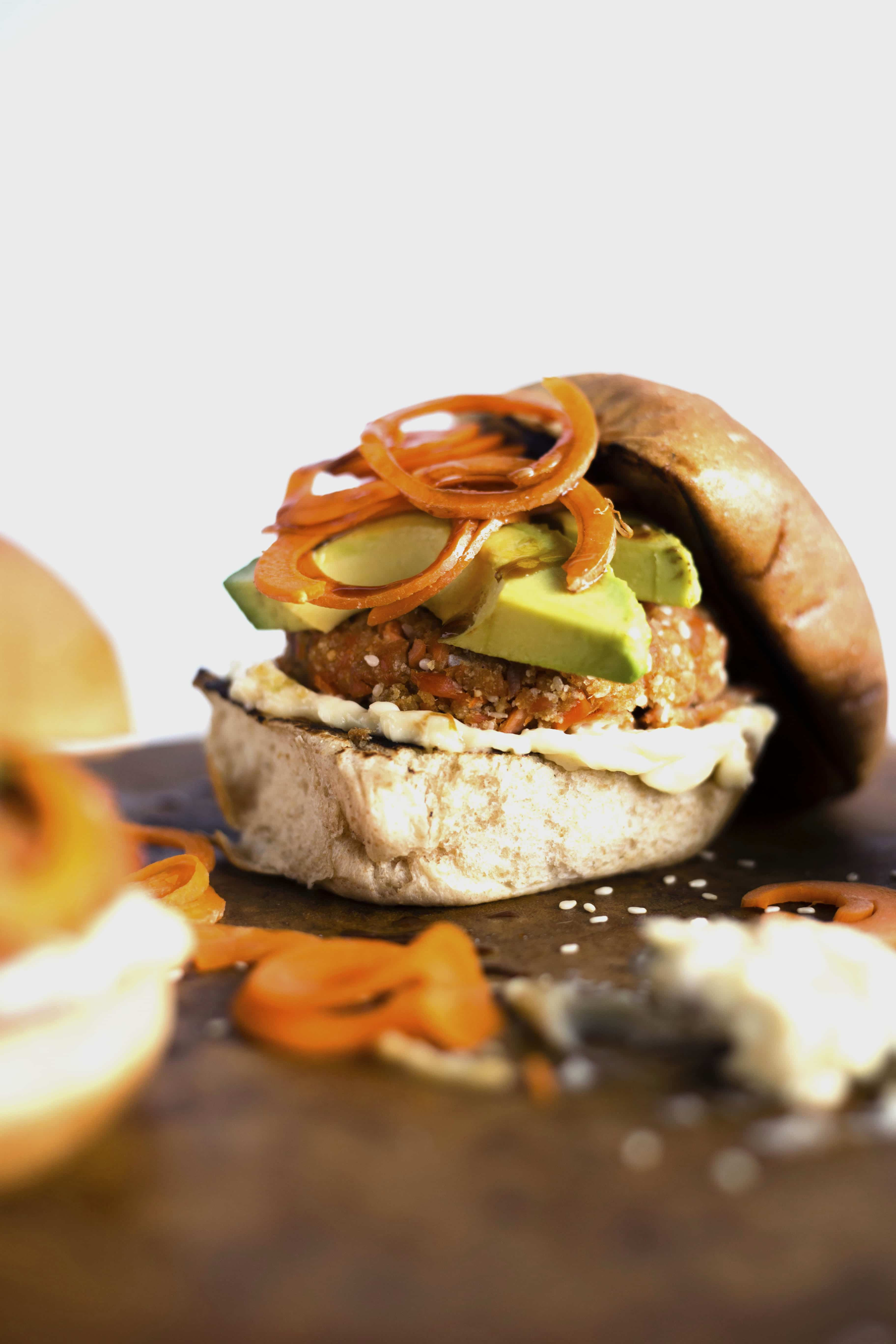 Sesame Salmon Burgers | Tasty burgers made with salmon, sesame oil, soy sauce, and breadcrumbs--YUM!
