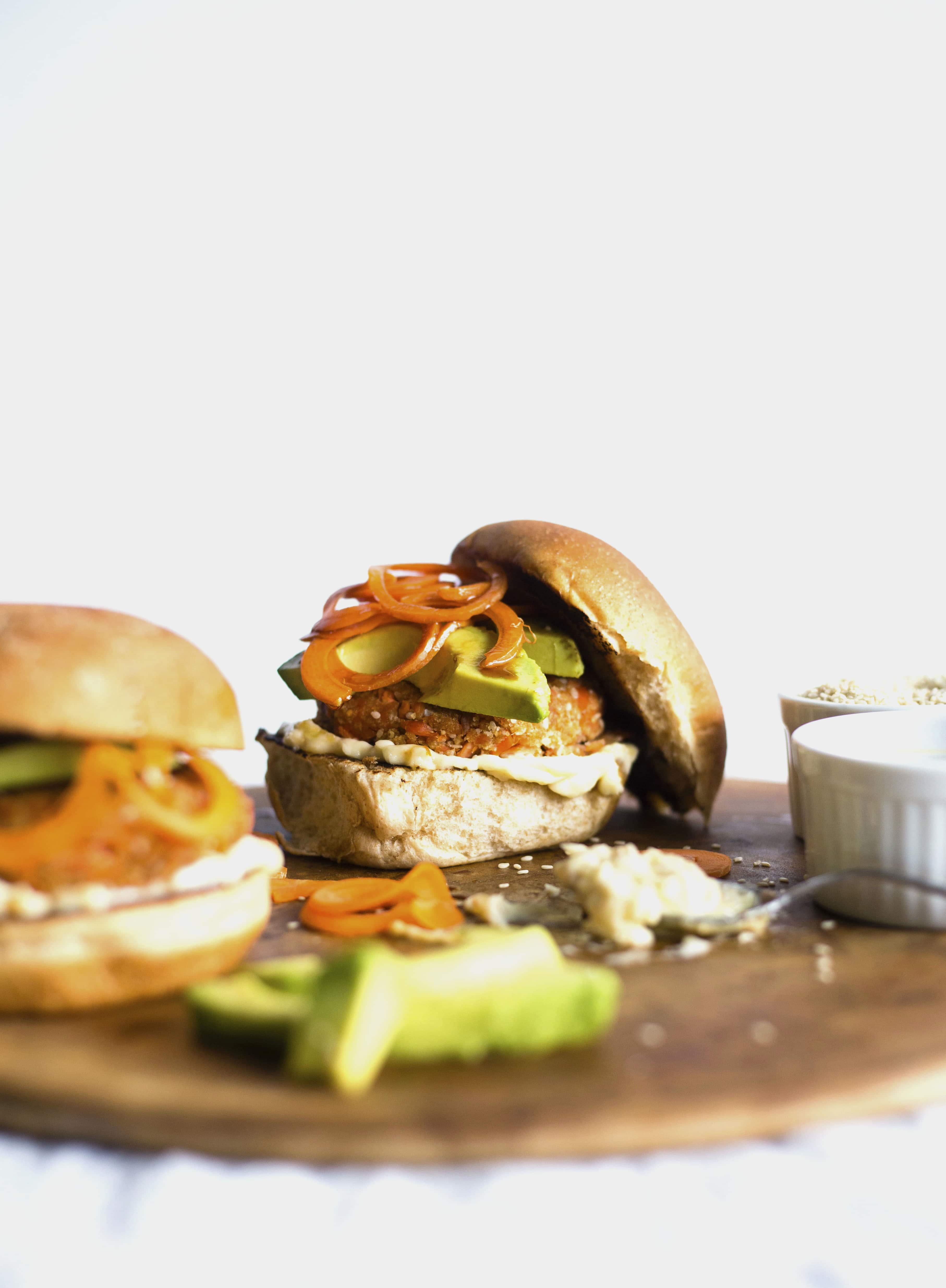 Sesame Salmon Burgers | Burgers made with SALMON, sesame oil and breadcrumbs--YUM!