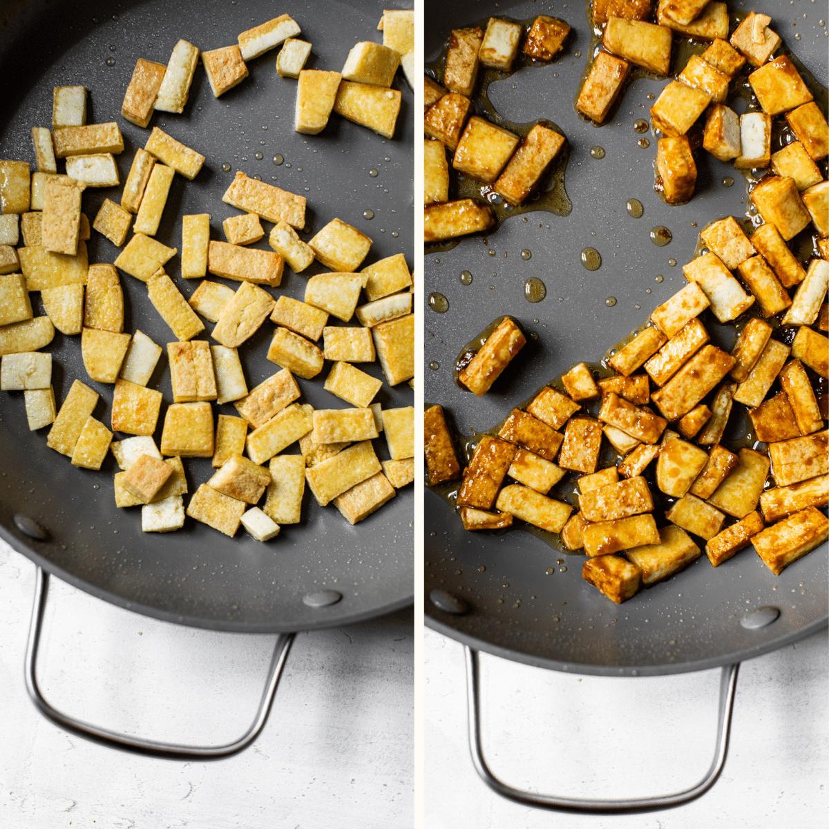 tofu in a skillet