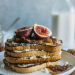 Fig Compote French Toast | Cinnamon french toast layered with ricotta cheese and topped with a 3-ingredient fig compote | thealmondeater.com