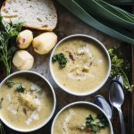 Potato Barley Soup | Traditional potato soup with the addition of barley and leeks for added flavor, nutrition and heartiness! | thealmondeater.com