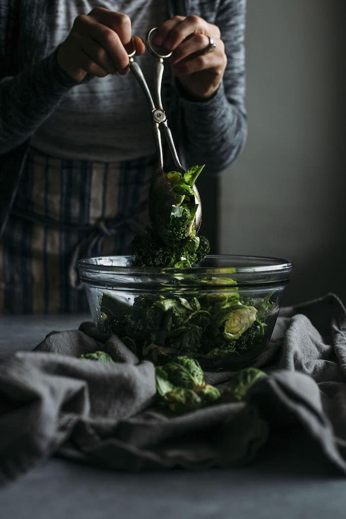 Apple, Kale and Brussels Sprouts Salad