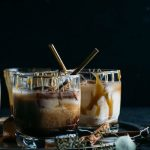 Salted Caramel White Russian | Jazz up a traditional White Russian by adding salted caramel sauce and cinnamon ice cubes! | thealmondeater.com