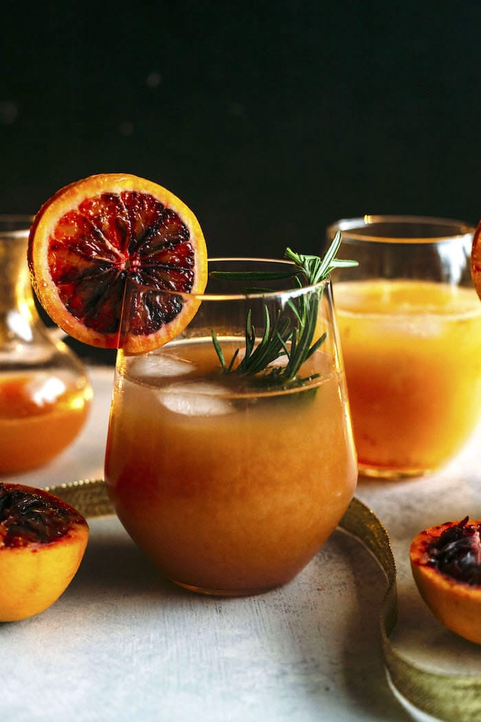 Blood Orange Punch | Delicious blood orange punch--just 5 ingredients and tons of sweet flavor | thealmondeater.com
