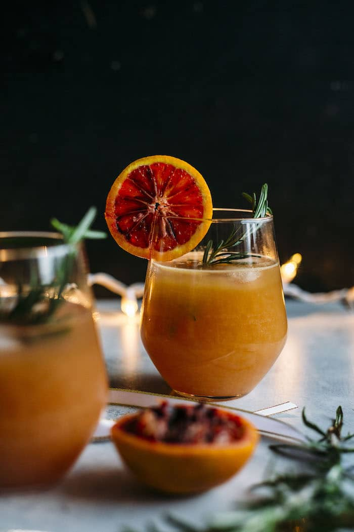 Boozy Blood Orange Punch | A delicious cocktail that requires just 5 ingredients! | thealmondeater.com