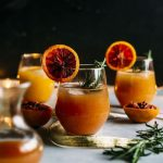 Boozy Blood Orange Punch | A delicious ORANGE punch that requires just 5 ingredients! | thealmondeater.com