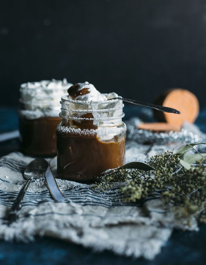 Chocolate Sweet Potato Pudding | Pudding made from sweet potatoes that's both vegan and paleo! | thealmondeater.com