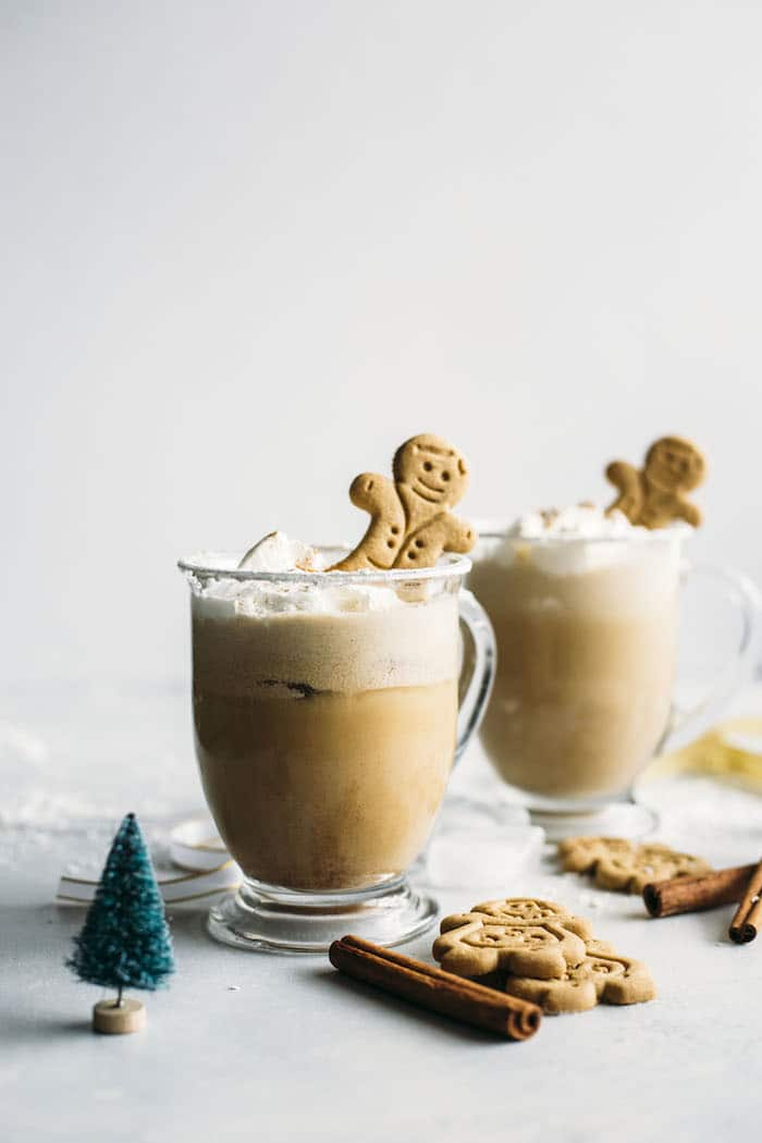 Gingerbread Milk Punch | Alcoholic or virgin milk punch that tastes just like gingerbread! | thealmondeater.com