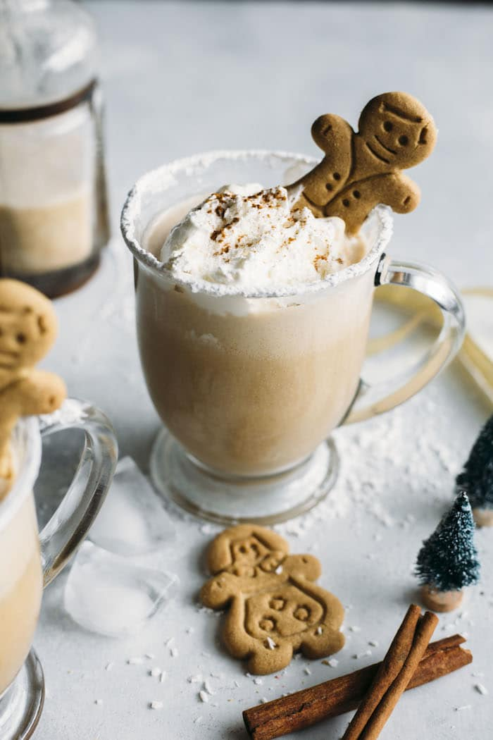 Gingerbread Milk Punch | Alcoholic or virgin milk punch that tastes like GINGERBREAD! | thealmondeater.com
