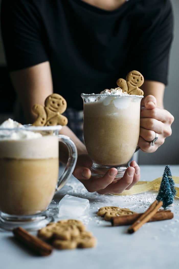 Gingerbread Milk Punch | Alcoholic or virgin milk punch that uses simple ingredients and tastes just like GINGERBREAD! | thealmondeater.com