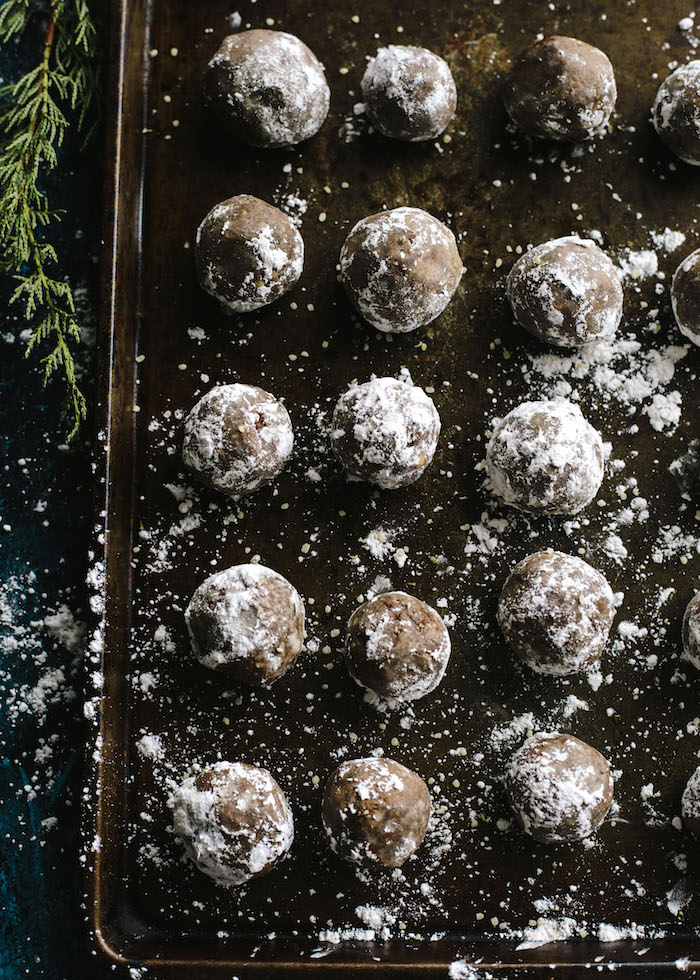 Superfood Truffles made with the nut butter of your choice, tons of superfoods and cacao. The perfect grab-n-go snack!
