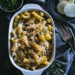 Bacon Mac and Cheese   Mac and cheese flavored with bacon, peas, onion and THREE types of cheeses!   thealmondeater.com