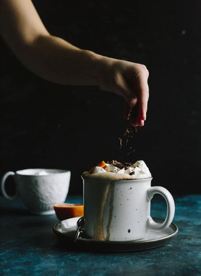 Blood Orange Hot Chocolate is a fun way to enjoy a classic recipe | thealmondeater.com