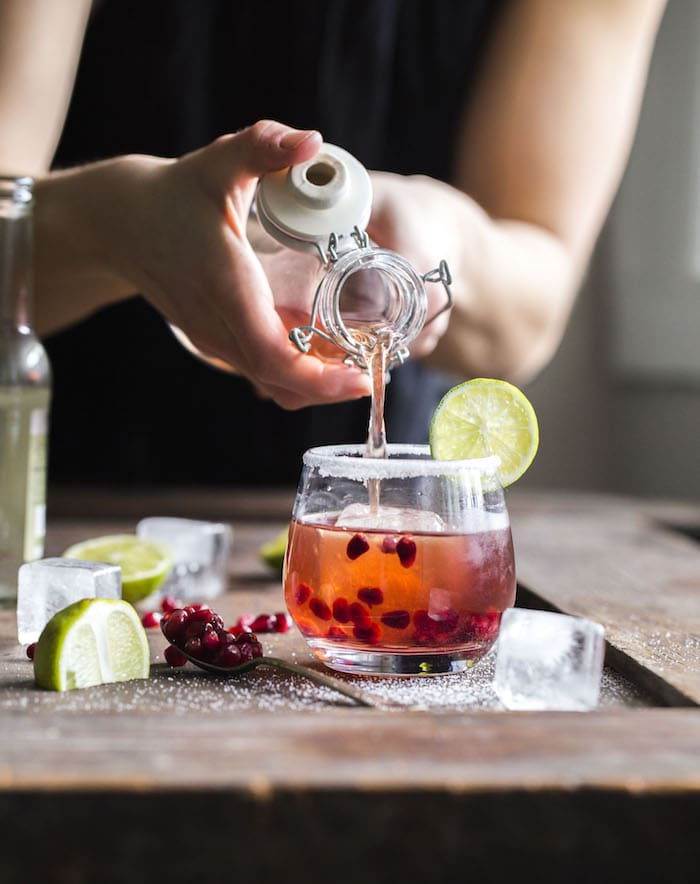 Ginger Pomegranate Punch | thealmondeater.com