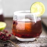 Ginger pomegranate punch made with vodka, wine, pomegranate juice AND ginger beer!