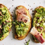 Lima Bean Avocado Toast made with SIMPLE ingredients and can easily be made vegan!