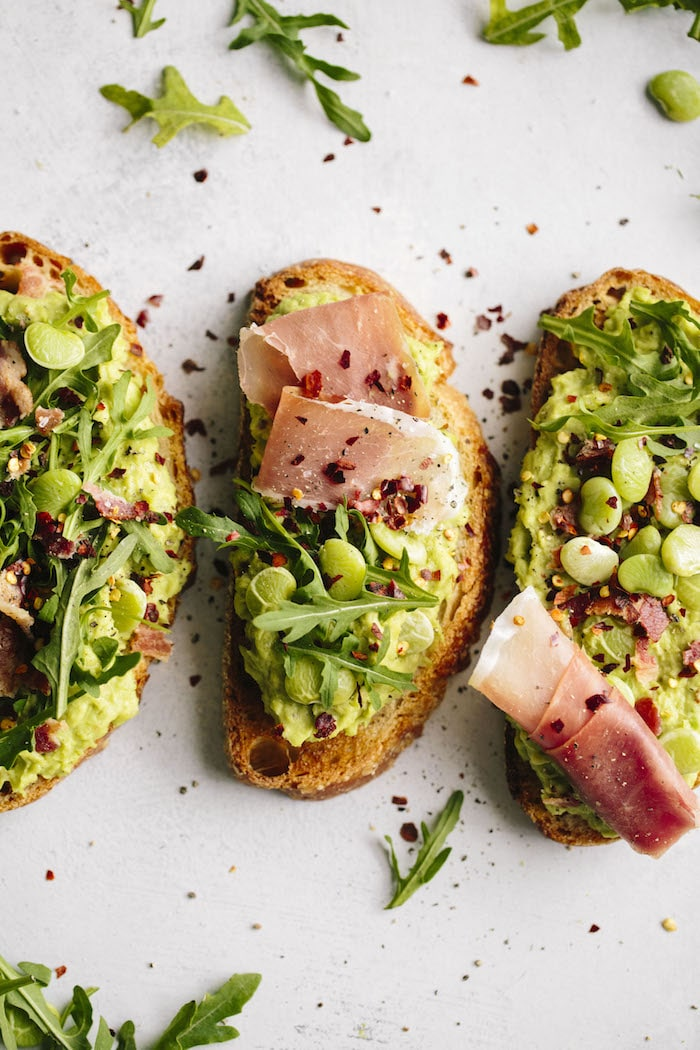 This Lima Bean Avocado Toast is made with SIMPLE ingredients, full of fiber and can easily be made vegan!