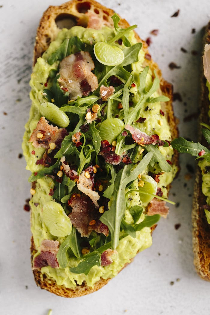 Lima Bean Avocado Toast | The Almond Eater