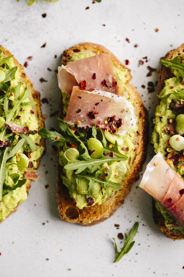 SIMPLE Lima Bean Avocado Toast made with minimal ingredients | thealmondeater.com