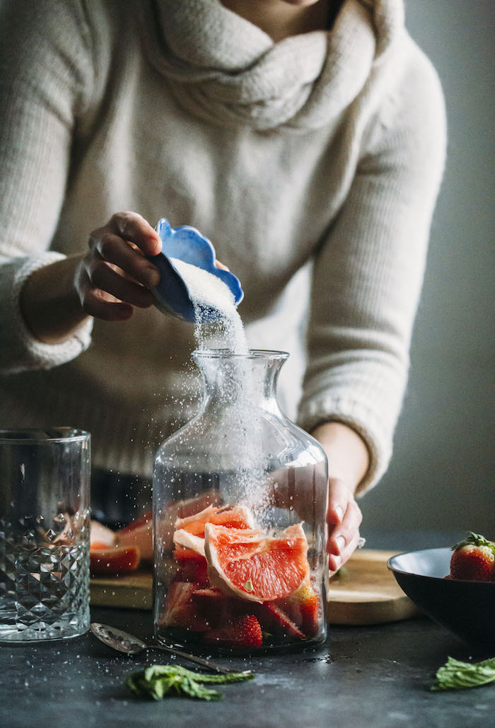 Strawberry Grapefruit Shrub | thealmondeater.com