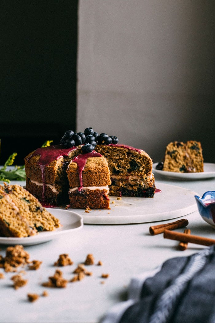 cinnamon blueberry brunch cake #glutenfree