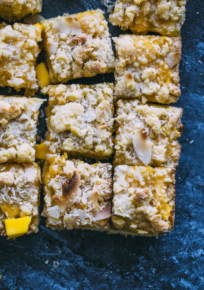 These MANGO Crumb Bars are perfectly buttery and slightly sweet--if you love mango, you need these ASAP!