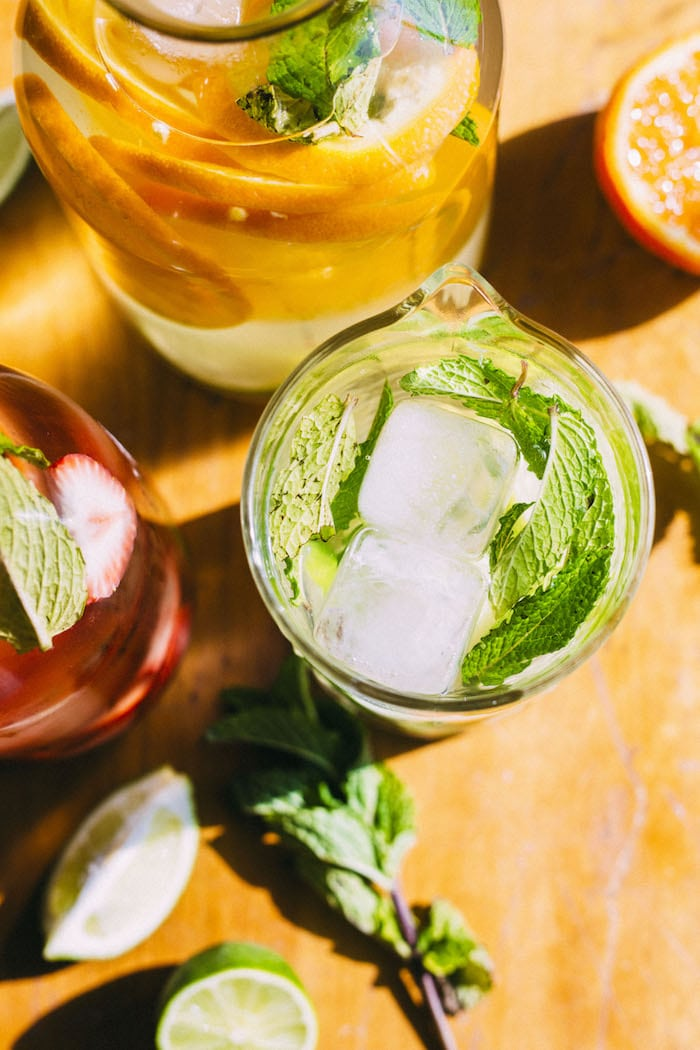 Mojito Water -- a simple drink that'll leave you feeling refreshed instead of hungover!