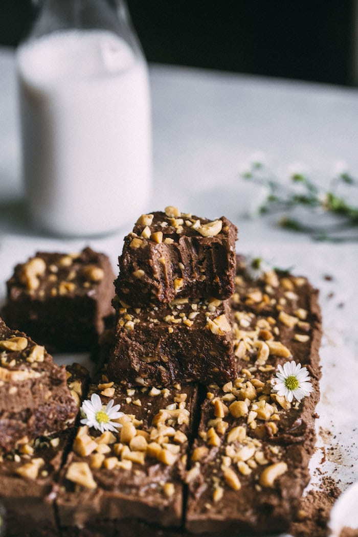 Chocolate Peanut Butter Avocado Brownies