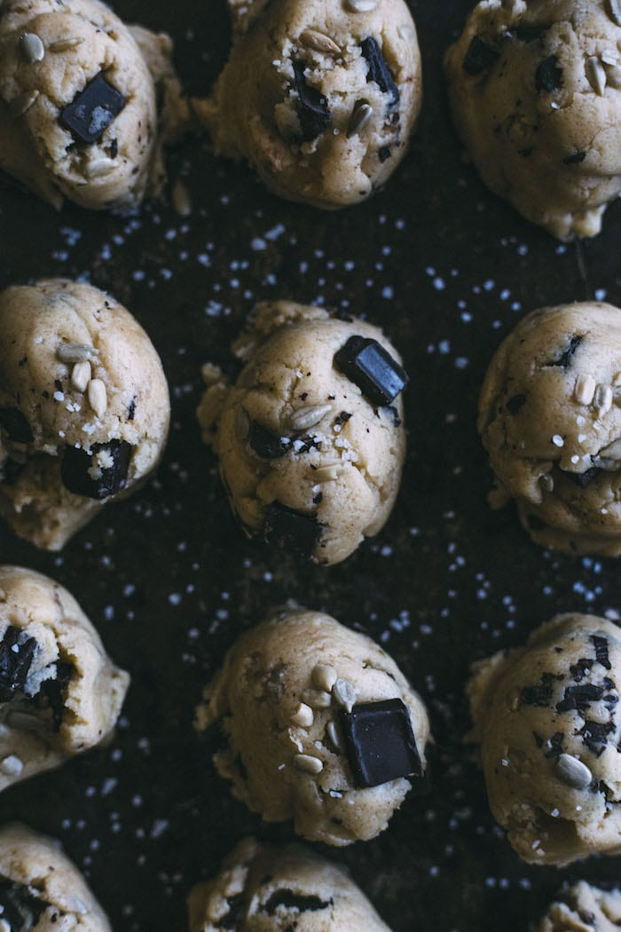 Seedy Chocolate Chip Cookies | thealmondeater.com