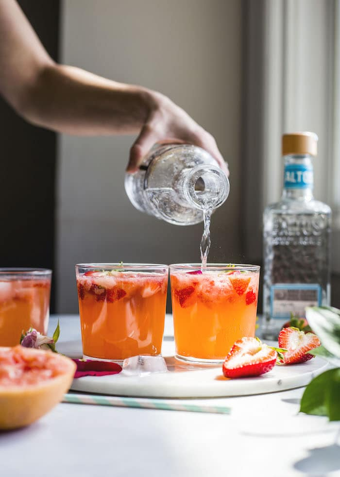 Strawberry Ginger Paloma | thealmondeater.com