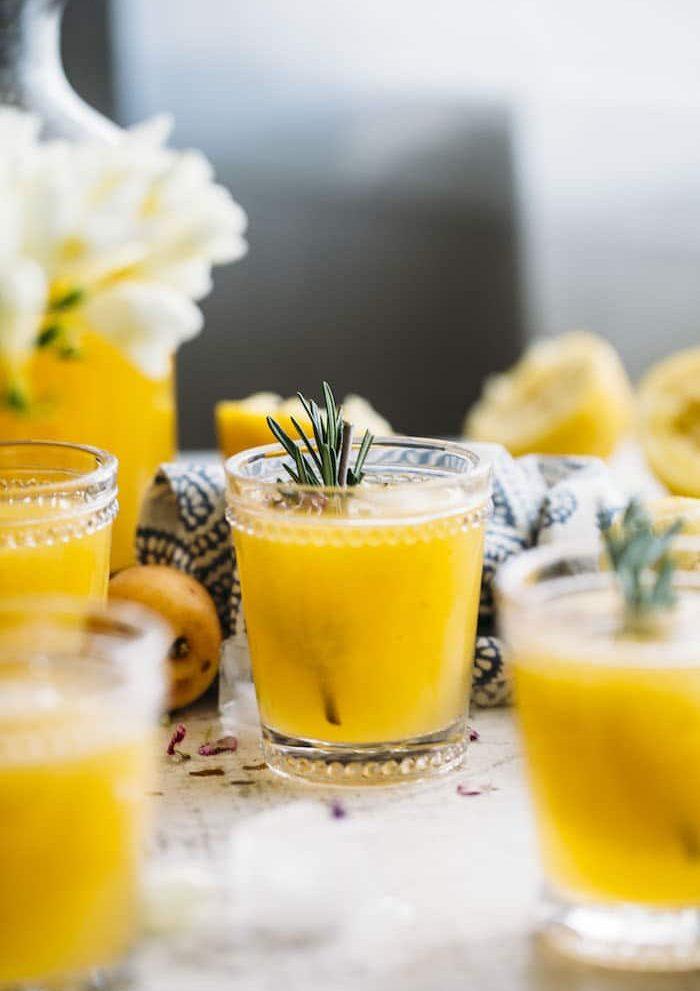 Apricot Rosemary Lemonade   thealmondeater.com