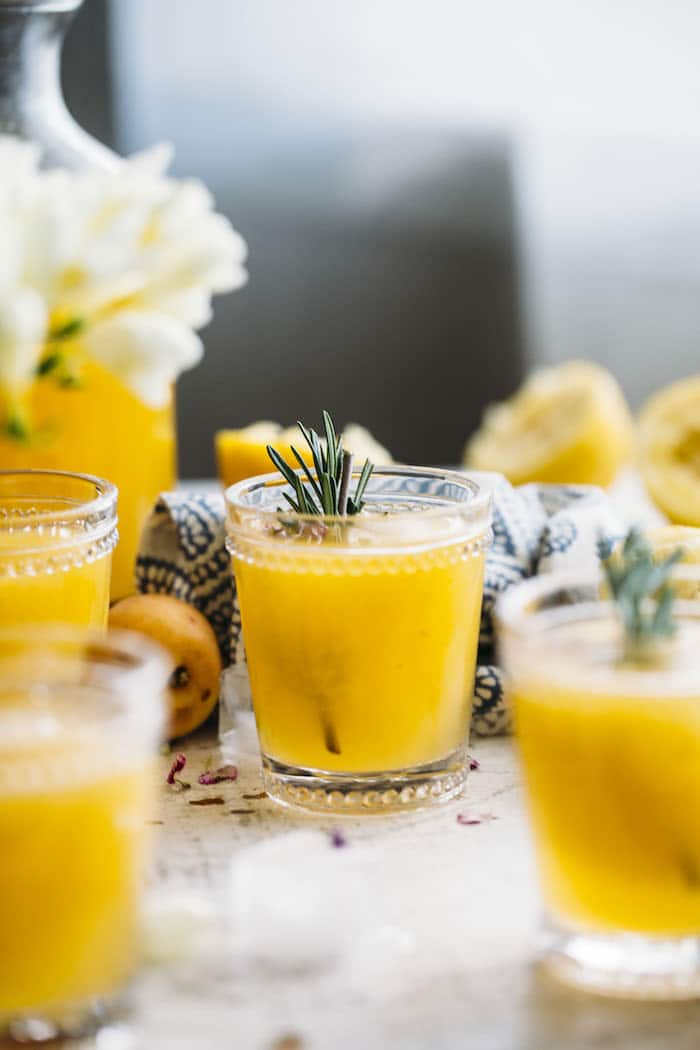 Apricot Rosemary Lemonade | thealmondeater.com