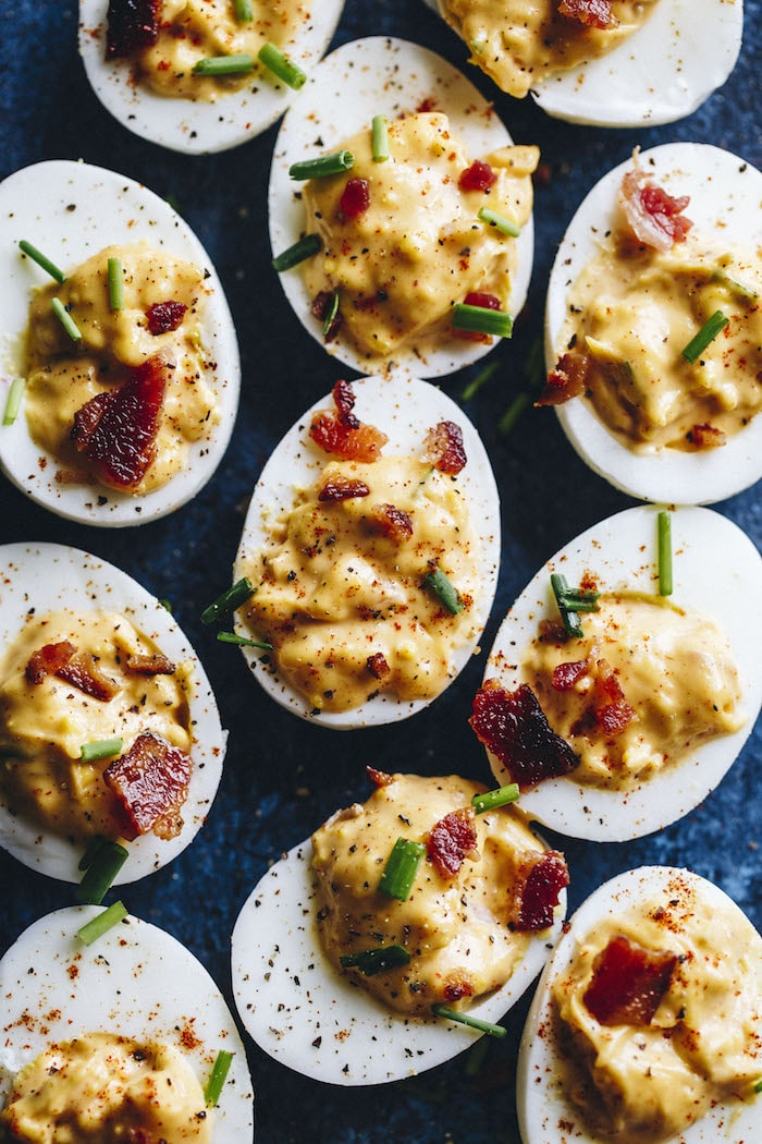 Chipotle Deviled Eggs | The Almond Eater