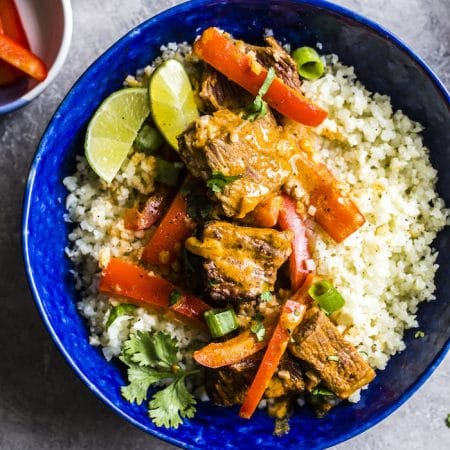 Grain-free Curry Beef Bowl | #paleo #whole30