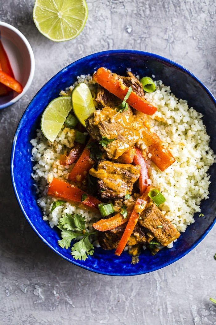 Grain-free Curry Beef Bowl   #paleo #whole30