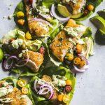 Paleo Cod Lettuce Wraps | thealmondeater.com | #paleo