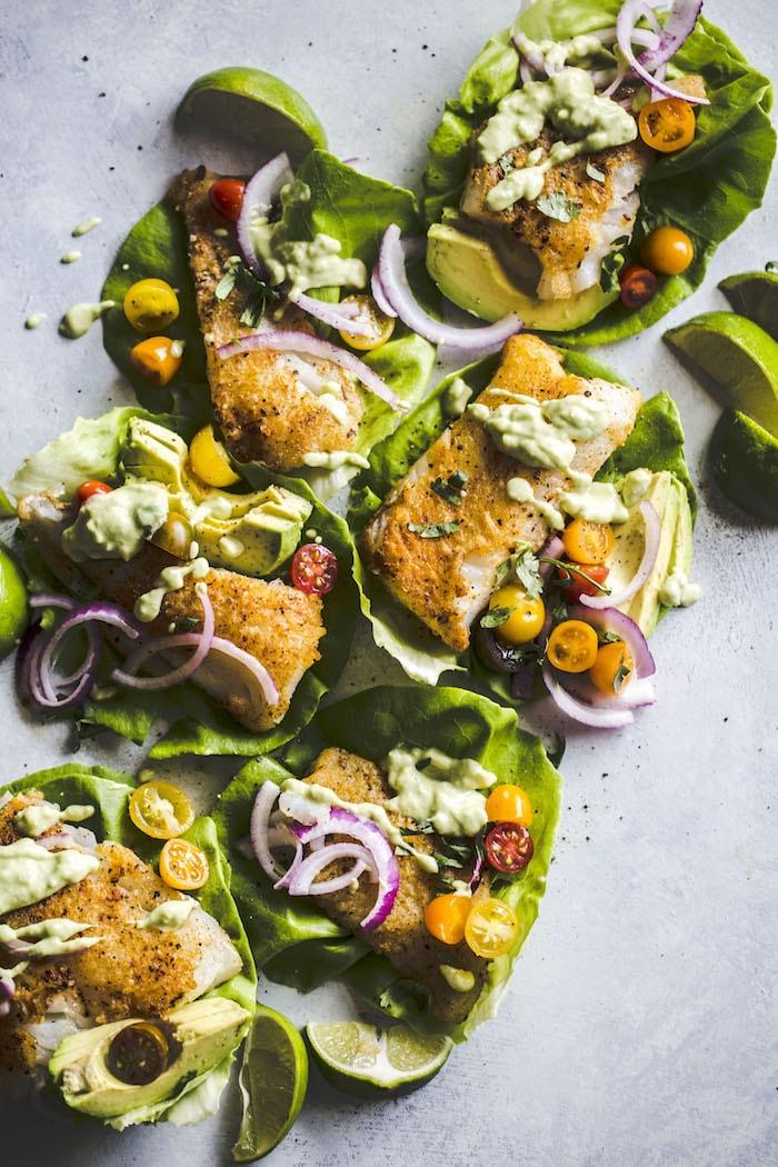 Paleo Cod Lettuce Wraps 1
