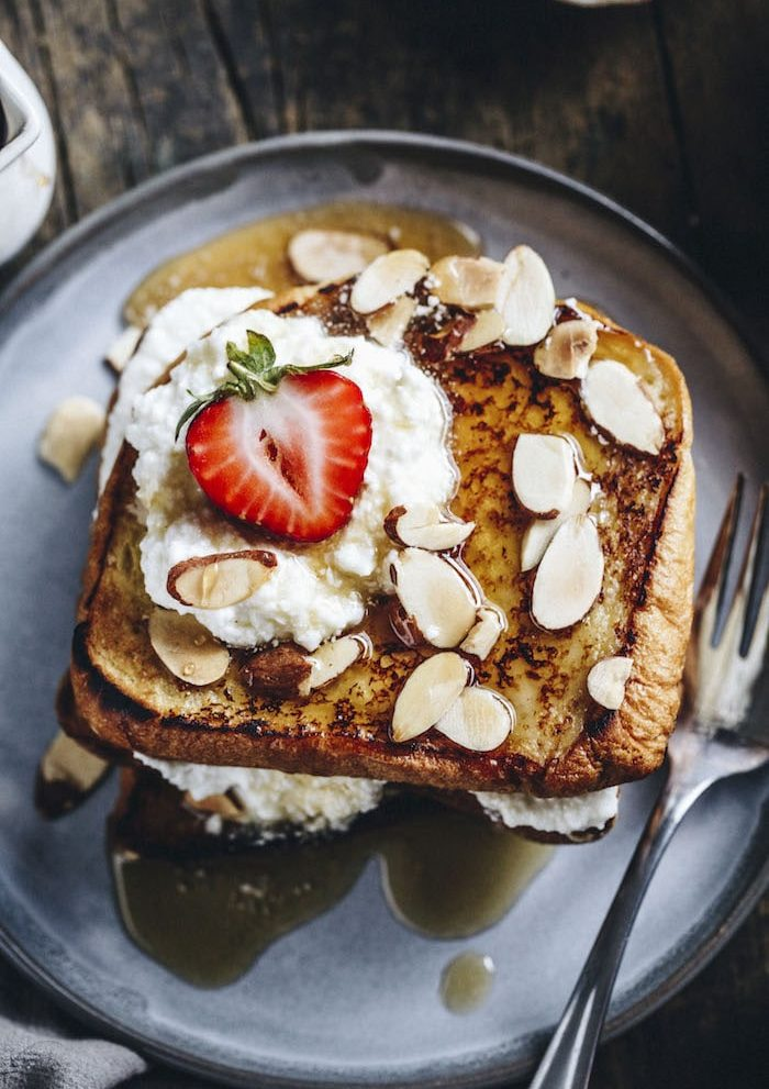 Toasted Almond French Toast | thealmondeater.com