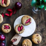 Plum Quinoa Muffins made with almond flour and NO refined sugar | thealmondeater.com