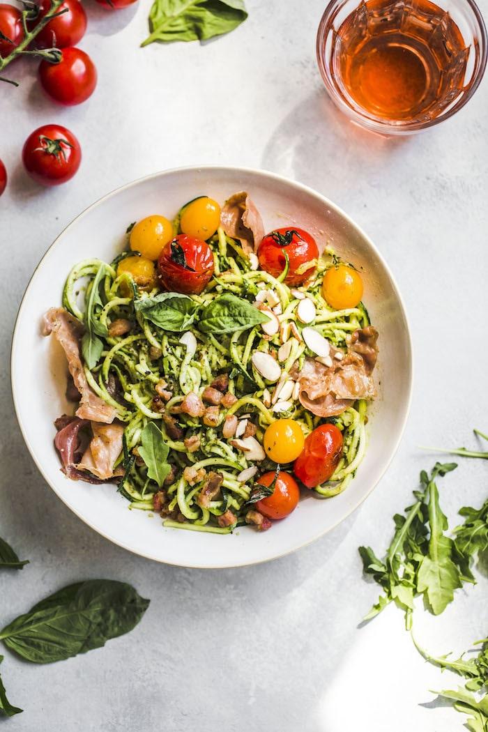 Arugula Pesto Zucchini Noodle Bowl 5