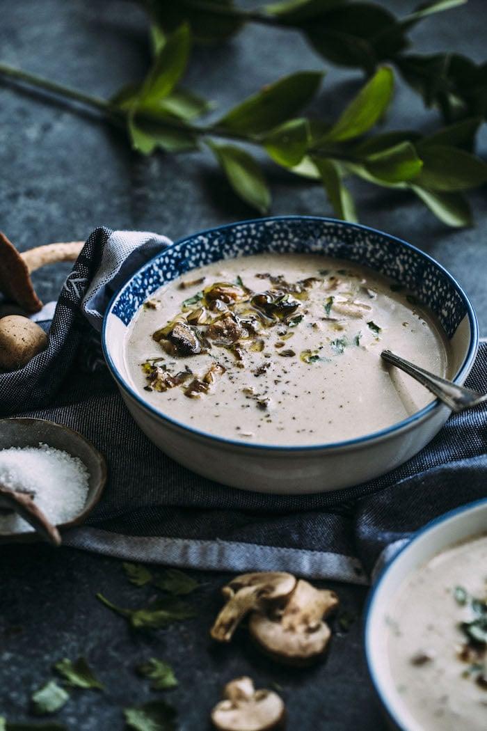 Dairy Free Mushroom Soup | #paleo