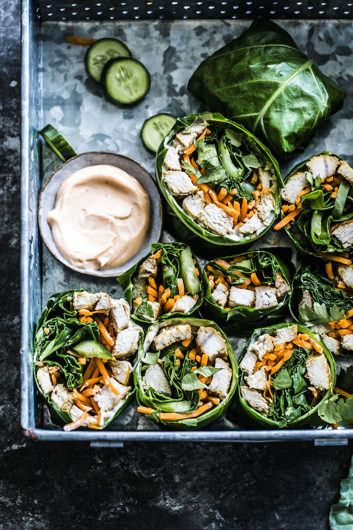 Banh Mi Collard Wraps-- paleo, dairy free, gluten free and SO TASTY! | thealmondeater.com