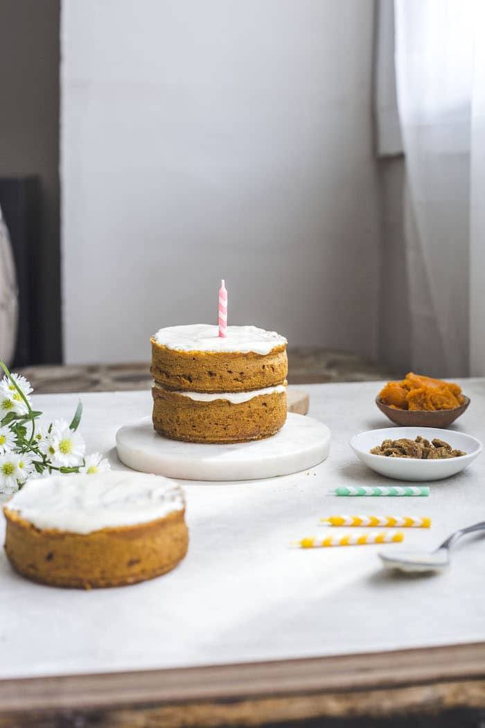 Vegan Pumpkin Dog Cake (for people too!)