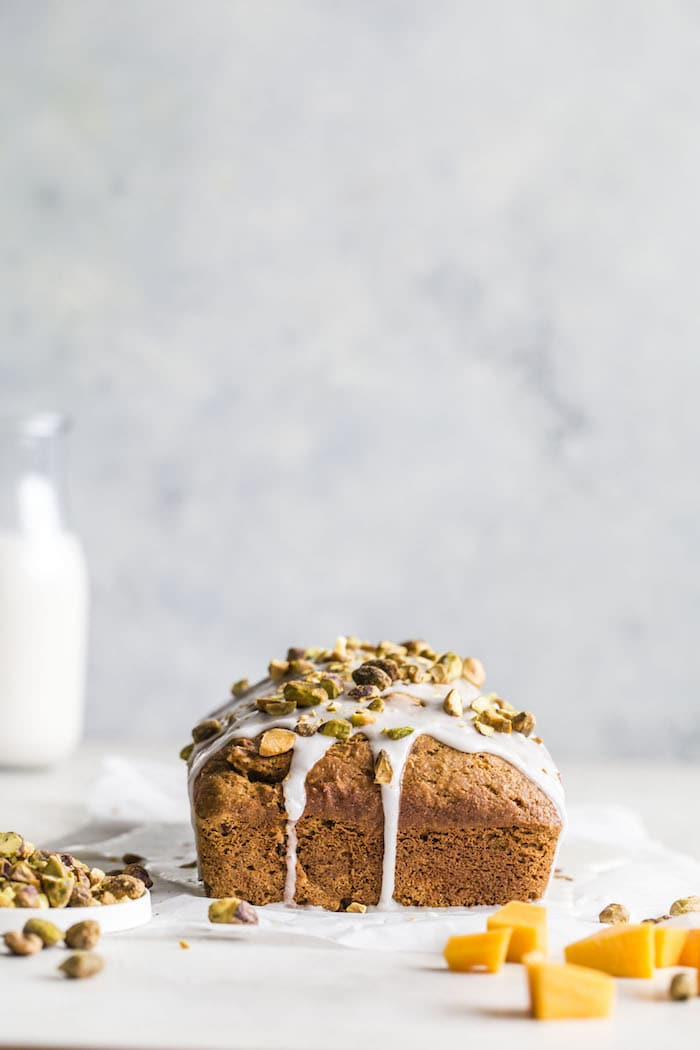 Butternut Squash Bread with pecans and pistachios | thealmondeater.com