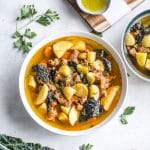 Spicy Sausage and Potato Soup | thealmondeater.com