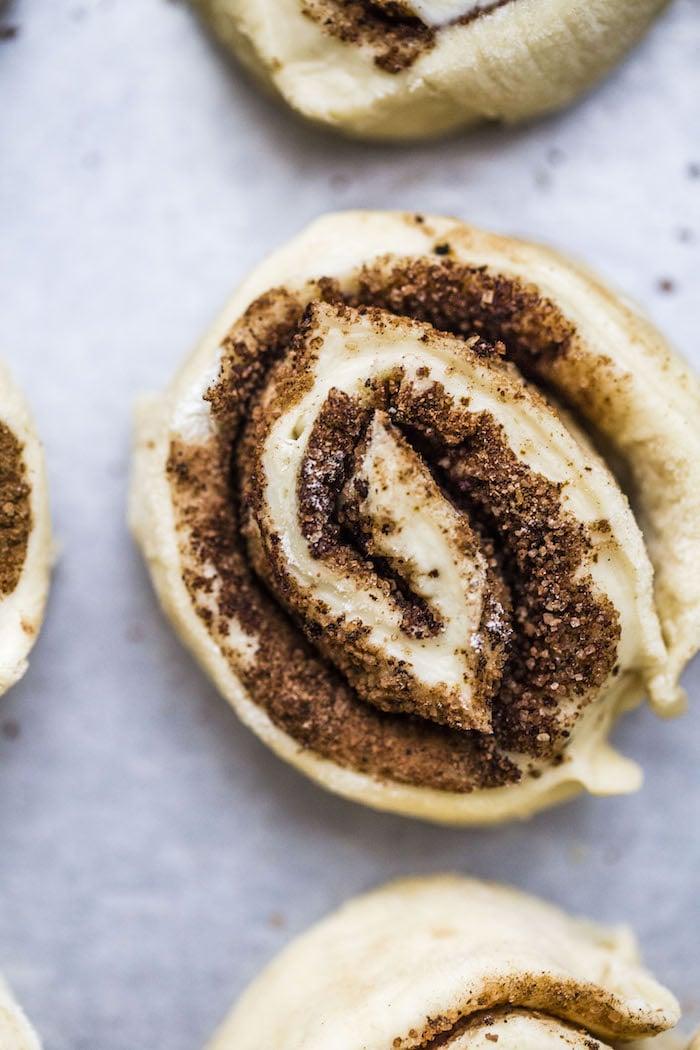 chocolate espresso VEGAN cinnamon rolls | thealmondeater.com